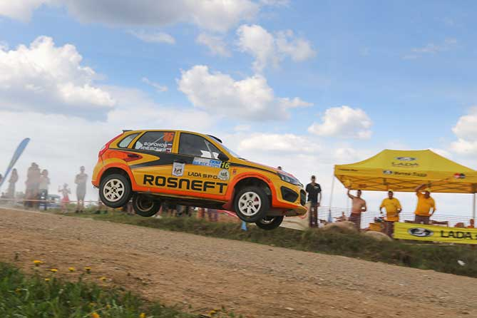 экипаж LADA Sport Rosneft rally Воронов Кричевский